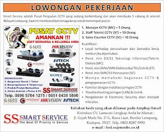 Lowongan Kerja Smart Service Lampung - Maret 2016