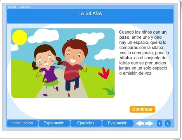 LA SÍLABA (Actividad interactiva de Lengua Española de Primaria)