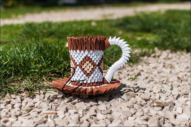 667. Filiżanka z origami / 3d origami cup