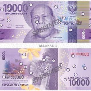 Uang Rupiah Baru 2016 pecahan 10000