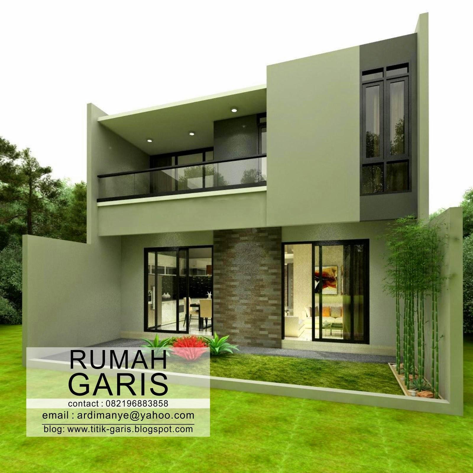 Desain Rumah Tinggal 2 Lantai Di Makassar Rumah Garis