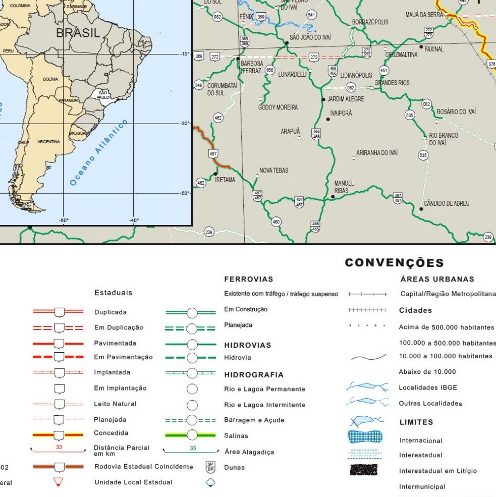 mapa de sao paulo rodoviario rodovias SP
