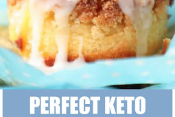 Perfect Keto Lemon Sour Cream Muffins #dessert #muffins