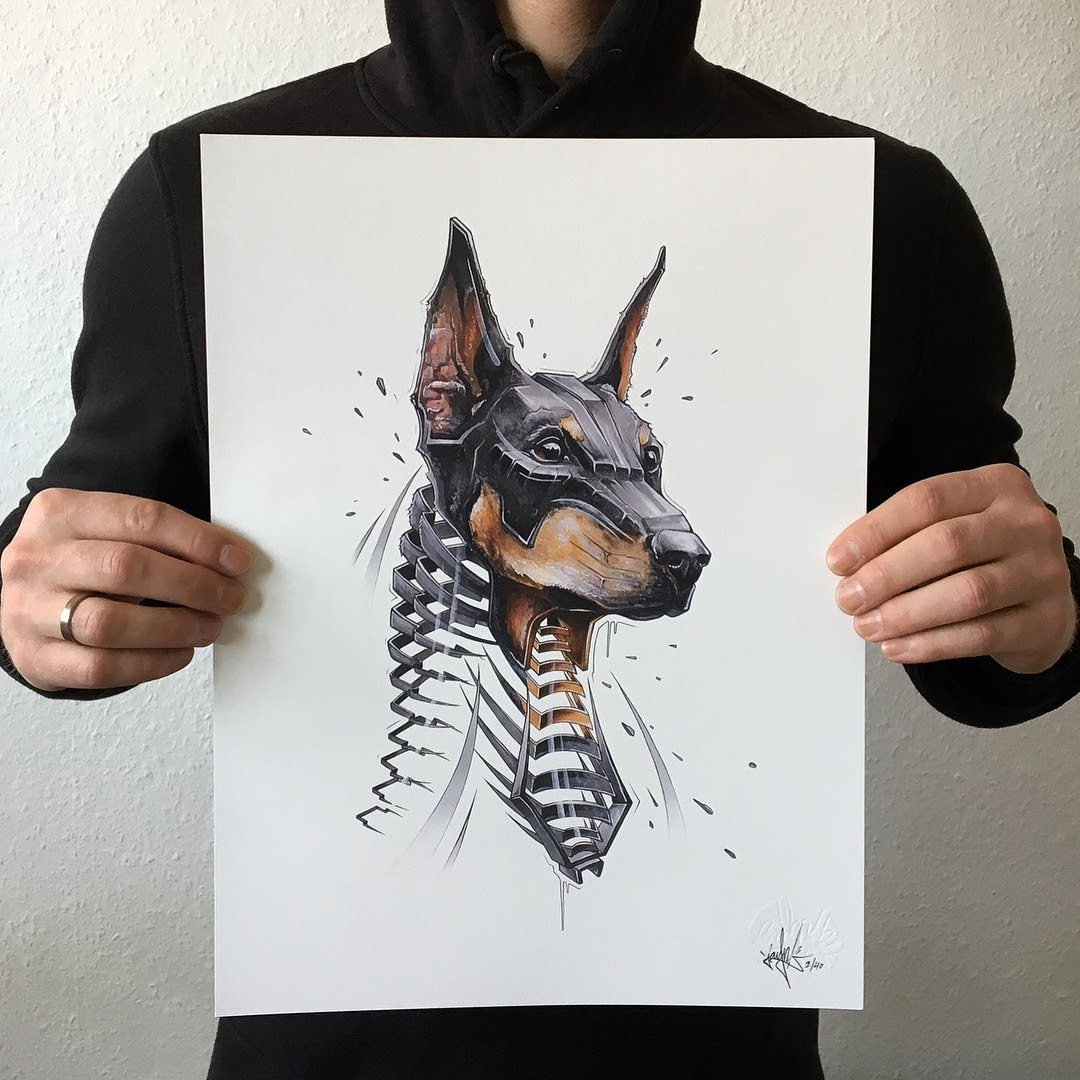 06-Doberman-Dog-JAYN-ABS-Crew-Slice-Animal-Portraits-Stylised-Looks-www-designstack-co