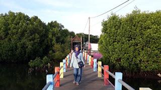 Jembatan Kayu Syariah Beach Pusan, Banyuwangi