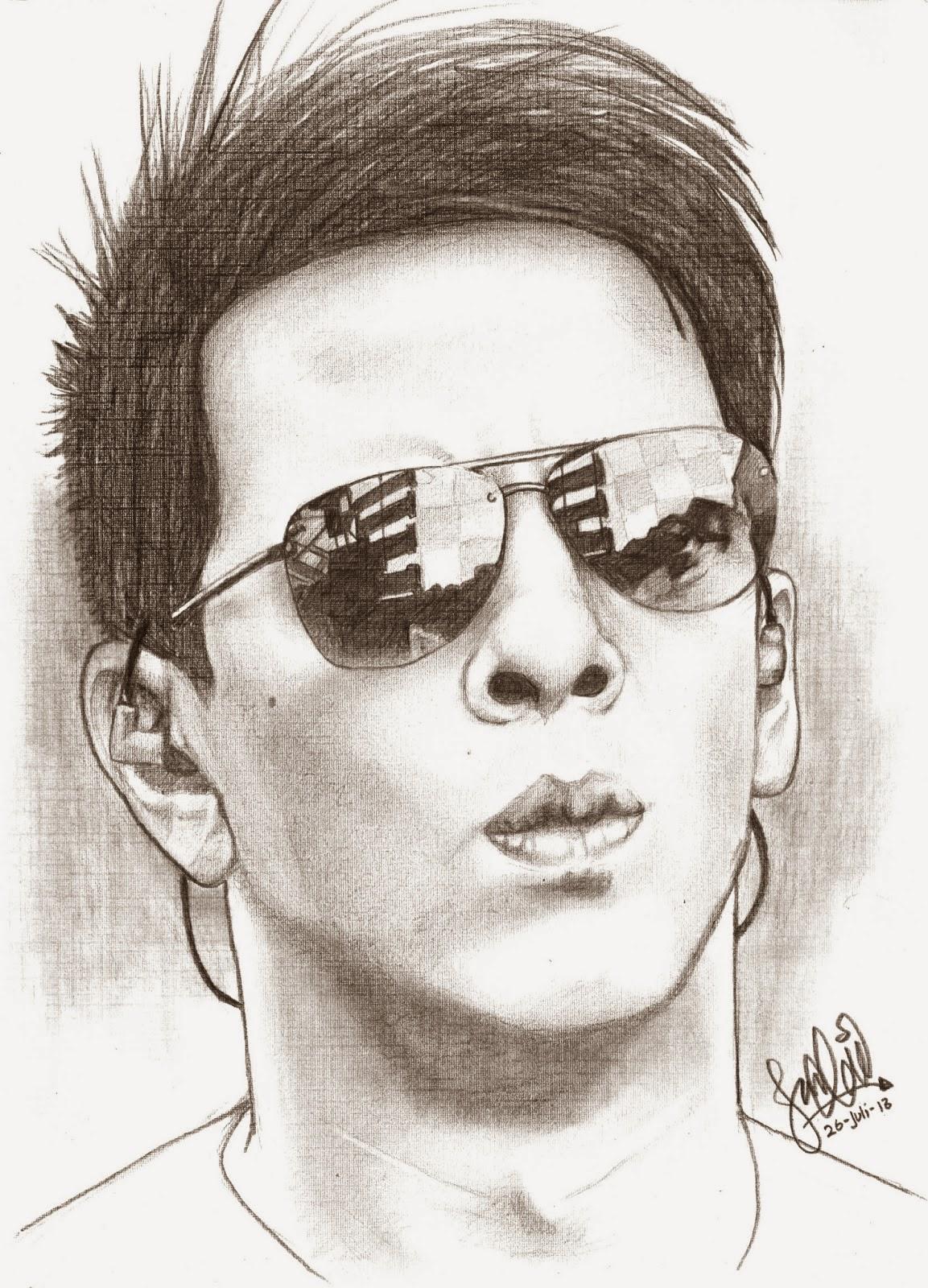 Download Kumpulan Sketsa Gambar Wajah Orang
