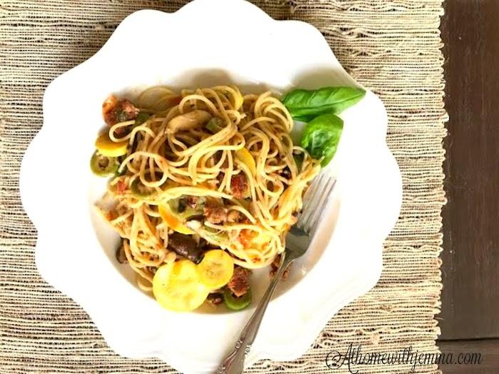 Easy Summer Squash With Spaghetti