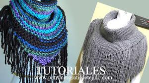 Cuellos con flecos para tejer en una tarde / Tutoriales