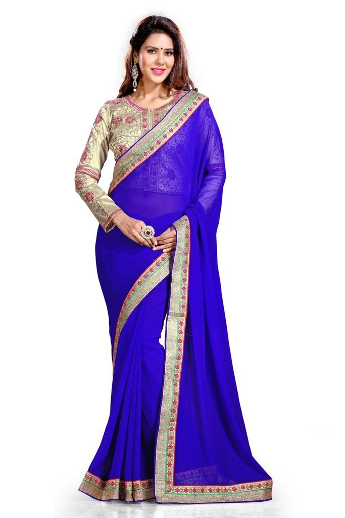 Best Sarees For Women With Embroidered Blouse Piece Be