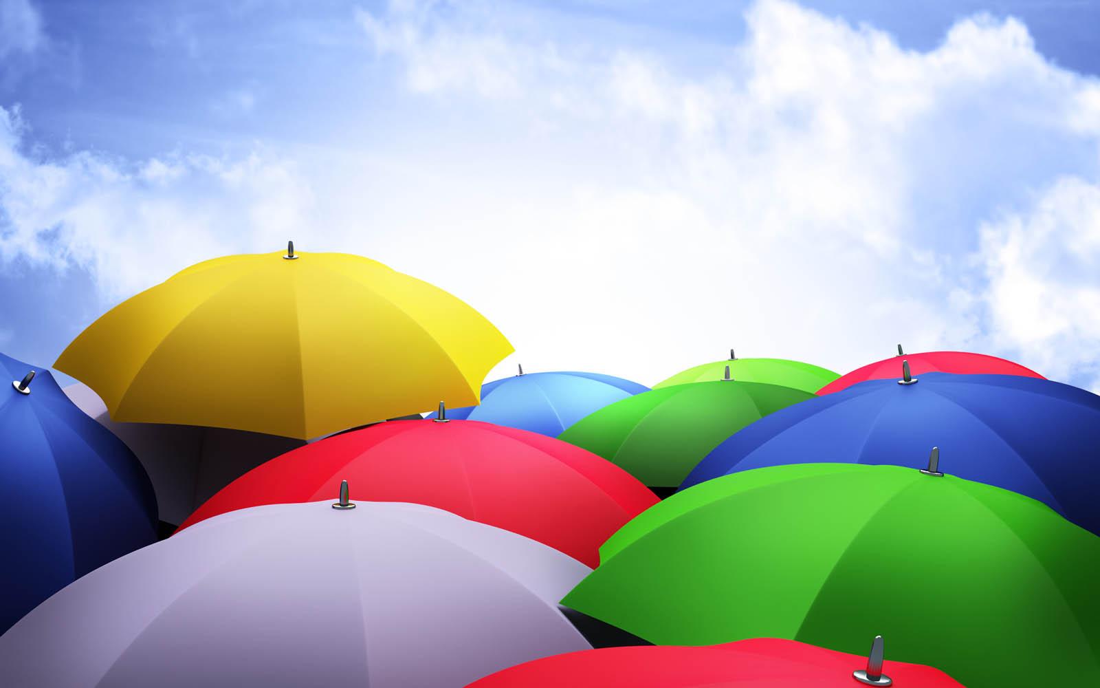 Wallpapers: Colorful Umbrellas