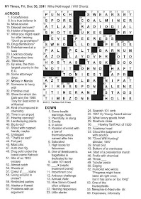 The New York Times Crossword in Gothic: December 2011
