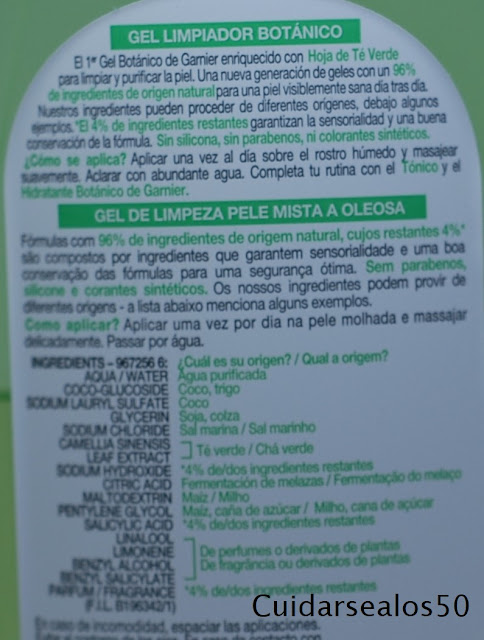 Ingredientes SkinActive con hoja de té verde