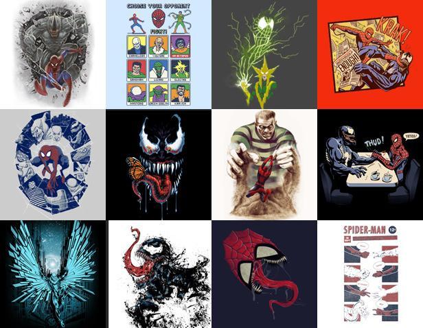 The Blot Says Marvel X Threadless Spider Man T Shirt