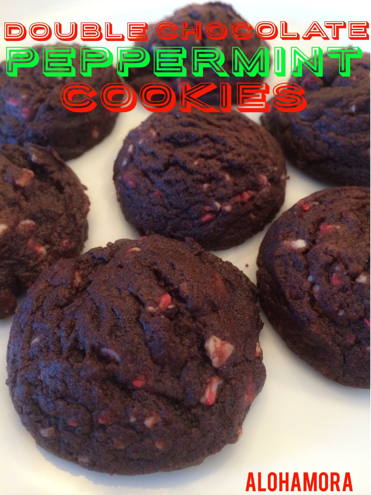 Double Chocolate Andes Peppermint Cookies.  Chocolate goodness and  the perfect amount of peppermint using the most delicious Andes Peppermint bits (the Andes in the red bag).  These cookies scream Christmas/Holidays and even my non-chocolate husband loves them.  Alohamora Open a Book http://alohamoraopenabook.blogspot.com/