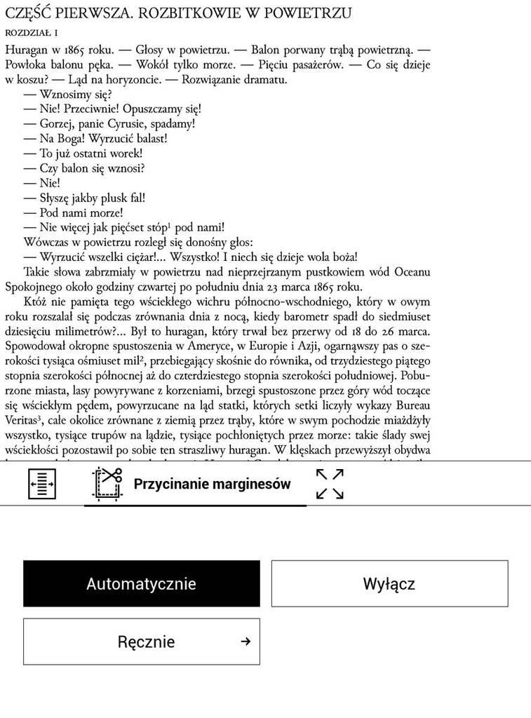 PocketBook Touch HD 3 - PDF po automatycznym przycięciu marginesów
