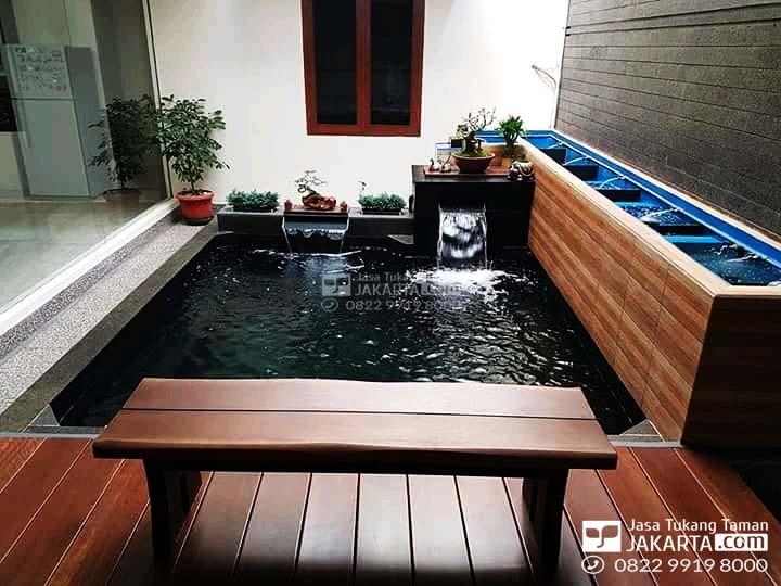 kolam ikan minimalis indoor
