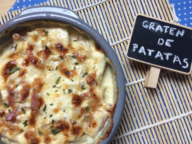 gratén de patatas con bacón receta