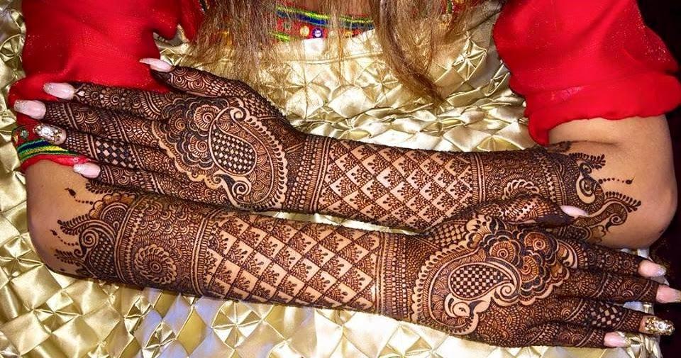 Mehndi For Dp : Full hand dulhan mehndi design for hands free