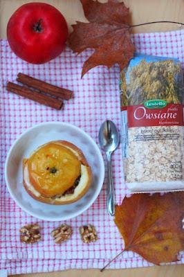 Jabłka pieczone nadziewane aromatyczną owsianką