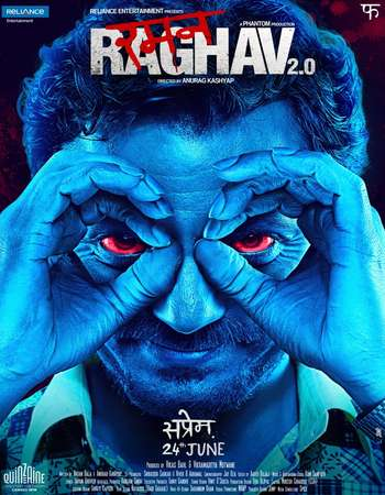 Poster Of Raman Raghav 2.0 2016 Hindi 450MB BRRip 720p ESubs HEVC Watch Online Free Download Worldfree4u