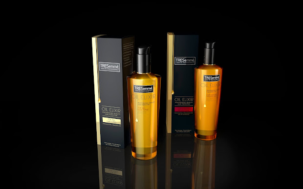 tresemm oil elixir range packaging