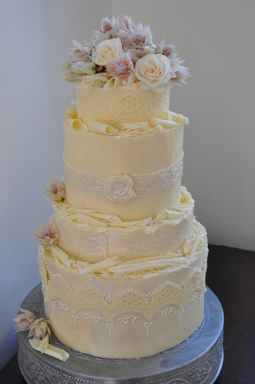 White Chocolate Wedding Cake Cape Town