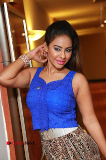 Telugu Actress Srilekha Reddy Latest HD Pos in Sleeveless Blue Top at Muse Art Gallery  0053.JPG