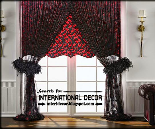 Best Modern curtain designs 2017 curtain ideas colors, black and red curtains