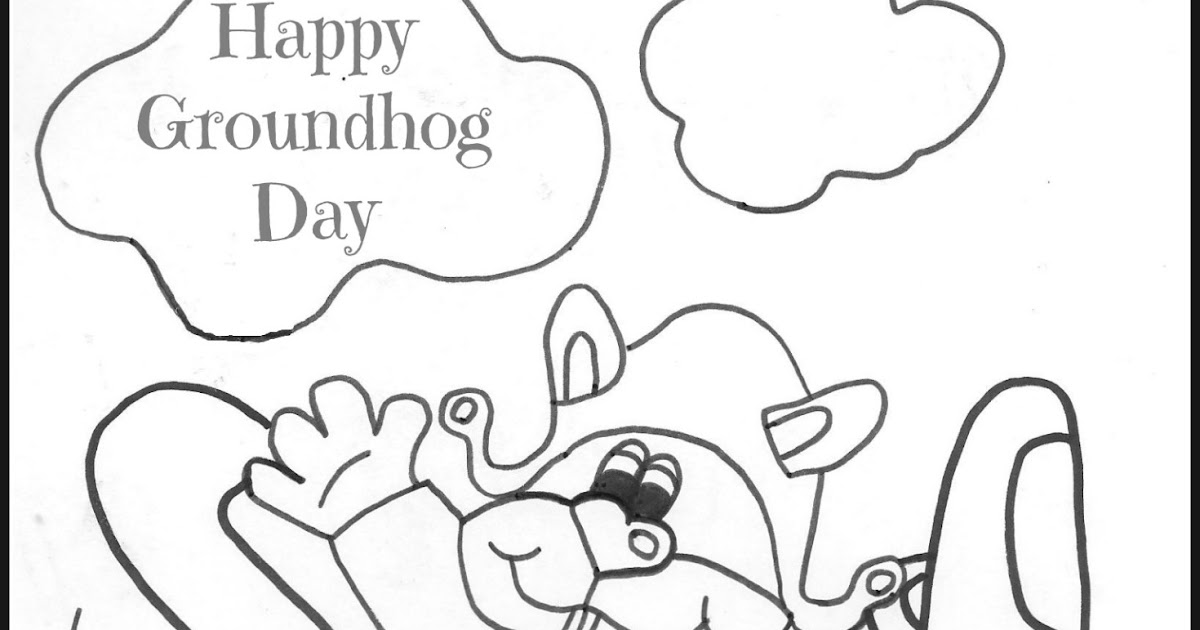 Kids Creative Chaos: Ground Hog Day Print Out Coloring Page