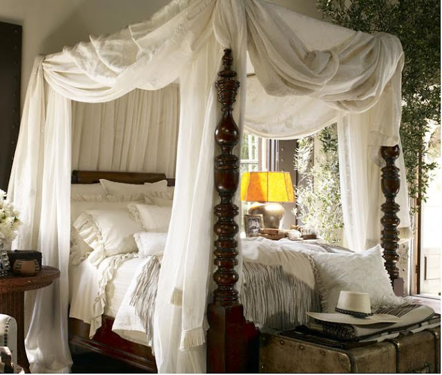 Beautiful sleeping with oak avenue fine linens fabulously - Pictures of canopy beds ...