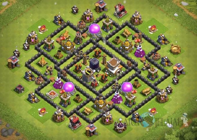 Base Farming TH 8 Clash Of Clans Terbaru 2017 tipe 13
