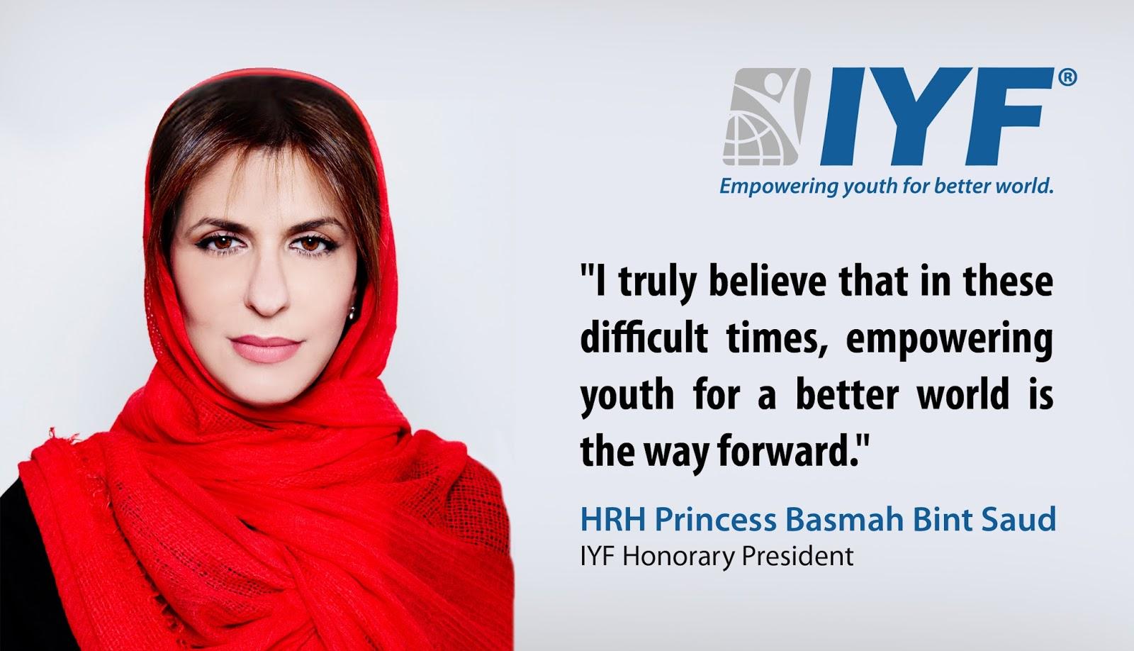 HRH Princess Basmah bint Saud, IYF Honorary President