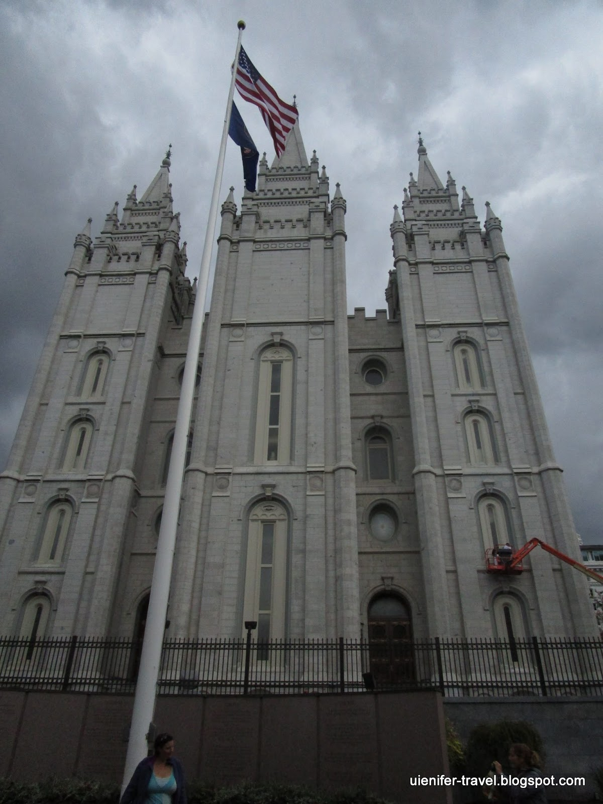Темпл-сквер. Солт-Лейк-Сити. Юта (Salt Lake City, Temple Square)