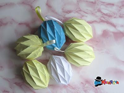 come realizzarle eggs origami