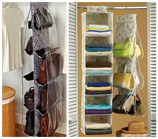 10 maneras ingeniosas de c mo organizar bolsos y carteras en casa manualidades - Como guardar los bolsos ordenados ...