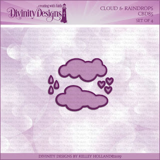 Divinity Designs LLC Custom Clouds and Raindrops Dies