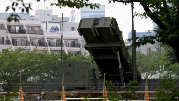 Surface-to-air missiles have been deployed outside Japan's defence ministry