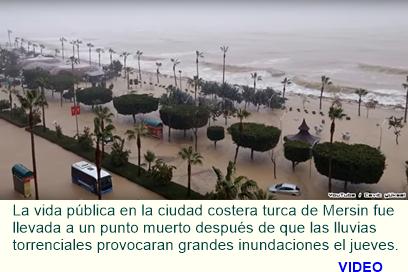 Precipitaciones 'sin precedentes' de Mersin en Turquía