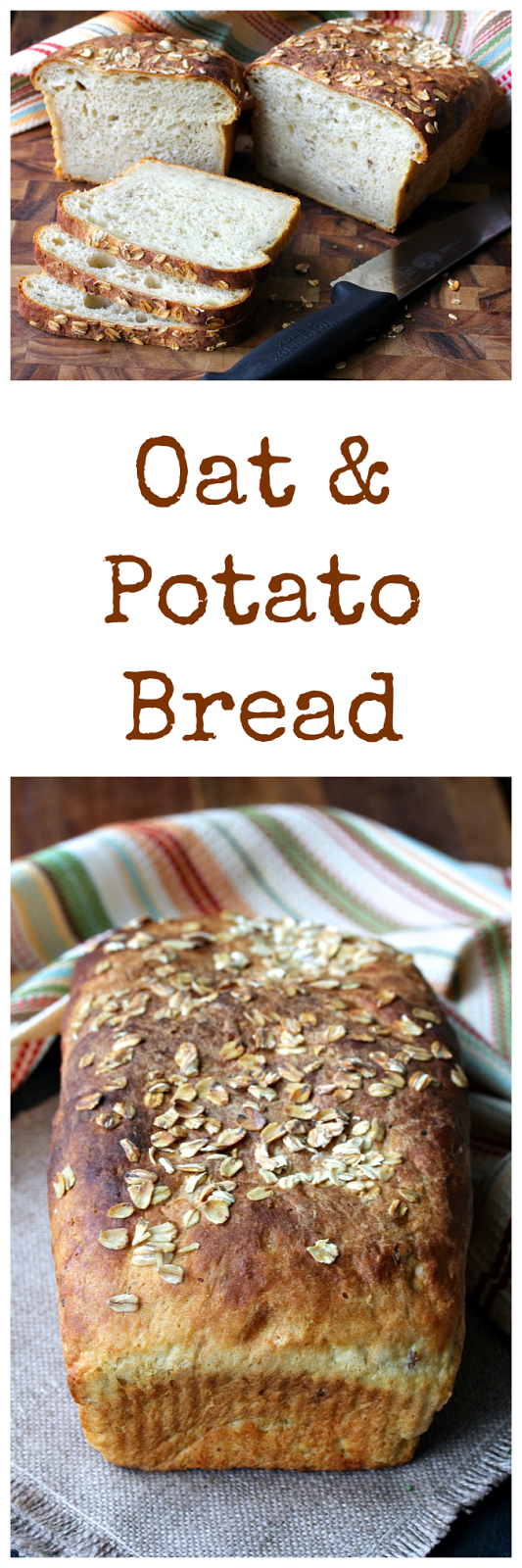 This Oat and Potato Bread uses freshly boiled potatoes or leftover mashed potatoes to add so much moistness and flavor.