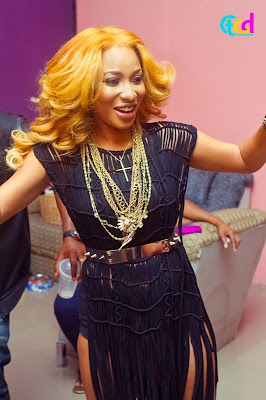 tonto dikeh video shoot
