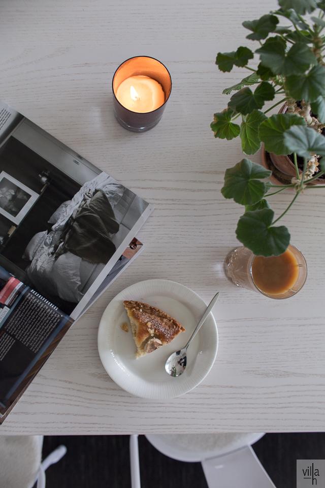 gluteeniton päärynäpiirakka, leivonta