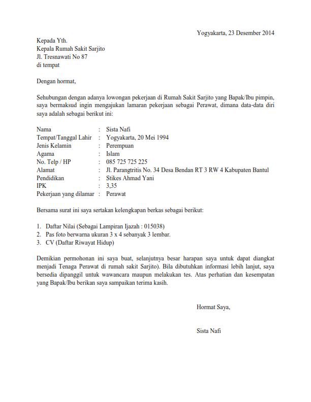 Contoh Daftar Riwayat Hidup D3 Keperawatan Bank Semarang