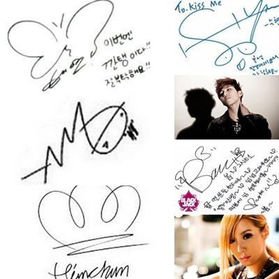 Vaniez Blog Imutnya Tanda Tangan 5 Idola K Pop Ini