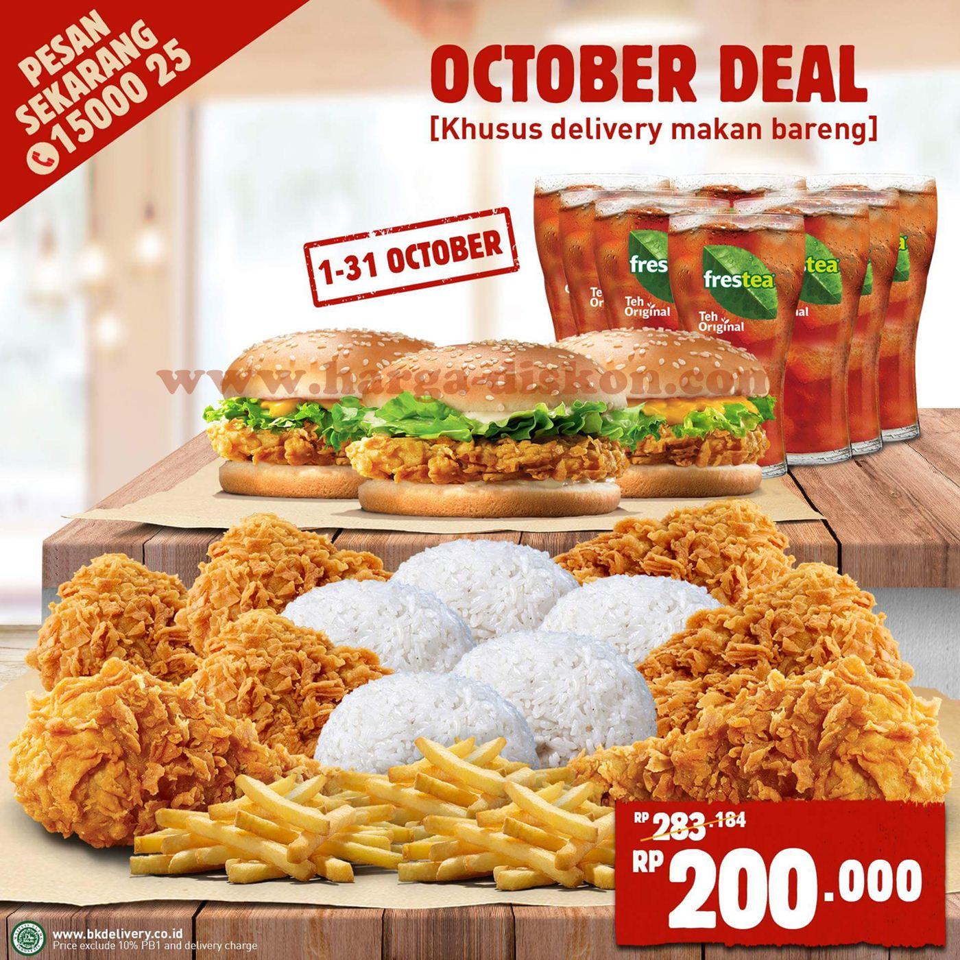 Promo Burger King Terbaru Oktober Deal Rp200 000 Periode 1 31 Oktober 2018 Harga Diskon