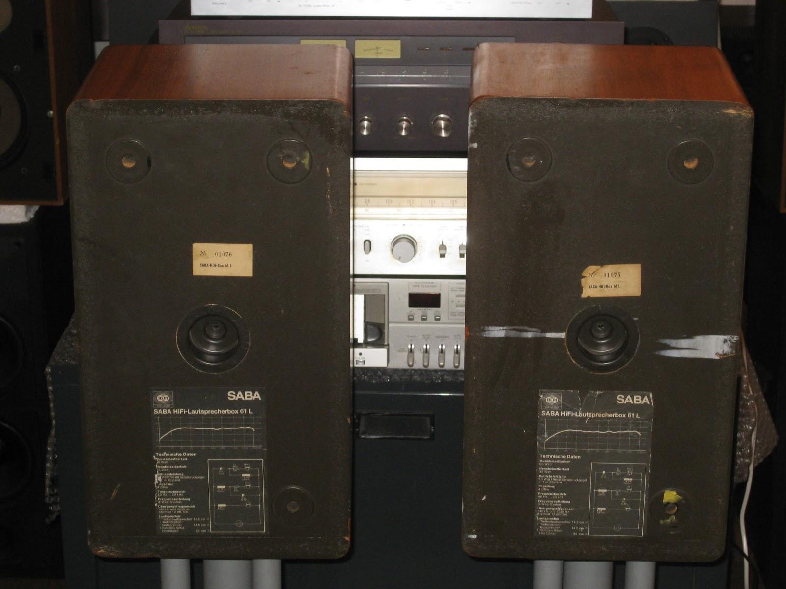 infrequent sound technology saba hifi lautsprecher box 61l 1978 made in germany. Black Bedroom Furniture Sets. Home Design Ideas