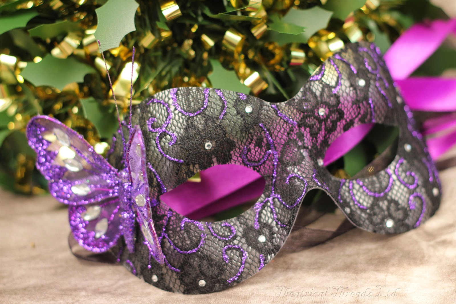 Bespoke Masquerade Masks from Theatrical Threads