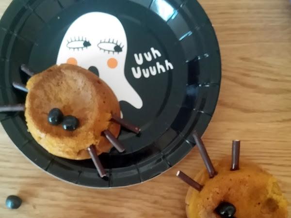 Muffins à la courge d'Haloween