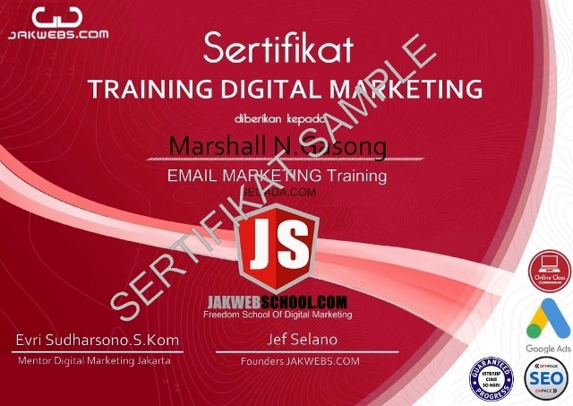 kursus digital marketing murah, sertifikasi digital marketing email marketing,  belajar digital marketing pemula