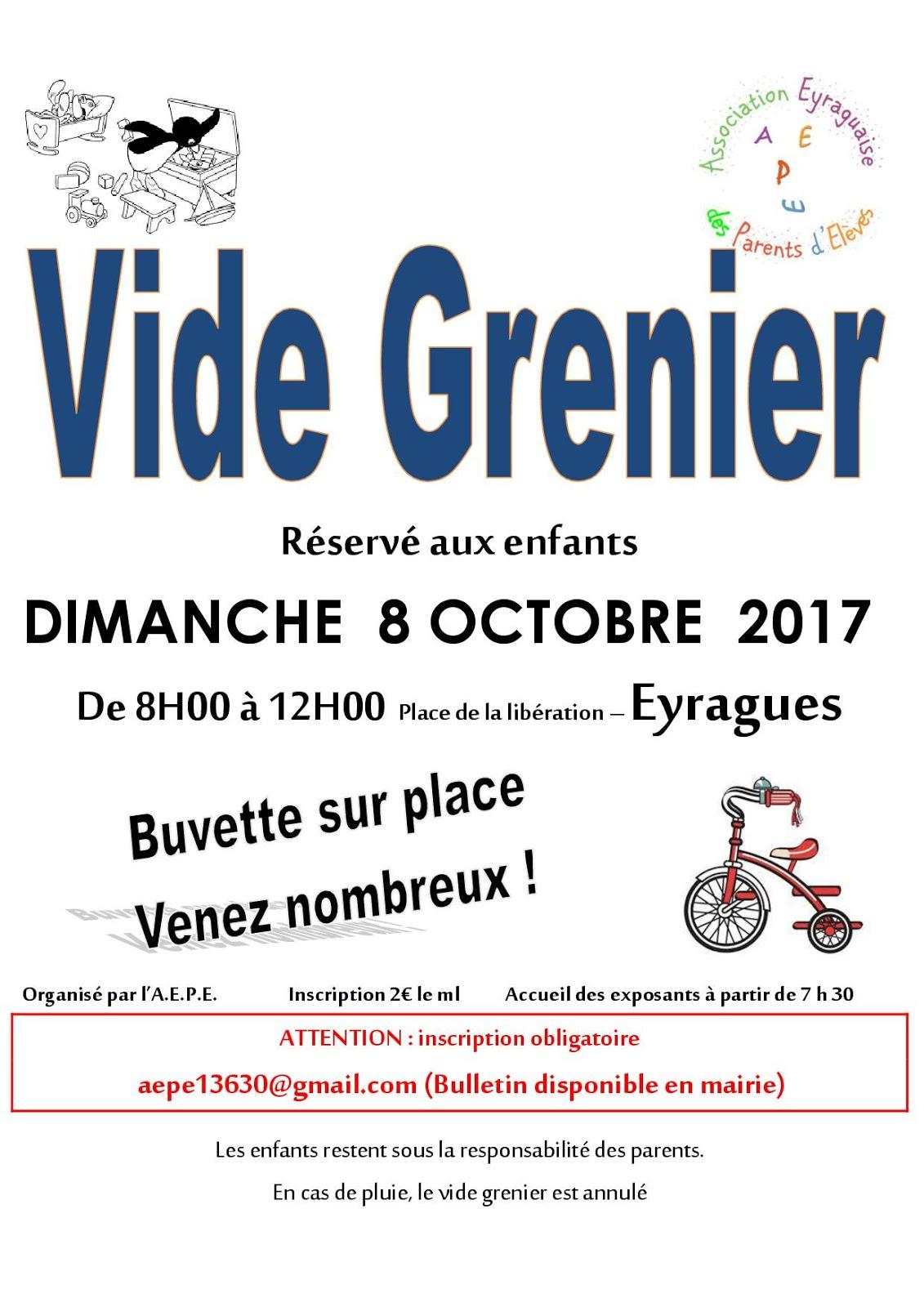 Le journal d 39 eyragues for Vide grenier loiret 2017