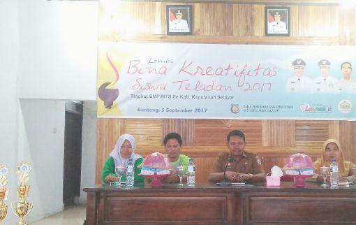 Disdikbud Selaya,r Gelar Lomba Bina Kreatifitas, Siswa Teladan 2017